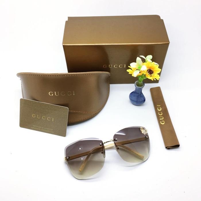 Kacamata / Sunglass Wanita Gucci M-82118 Fullset + Cairan Pembersih