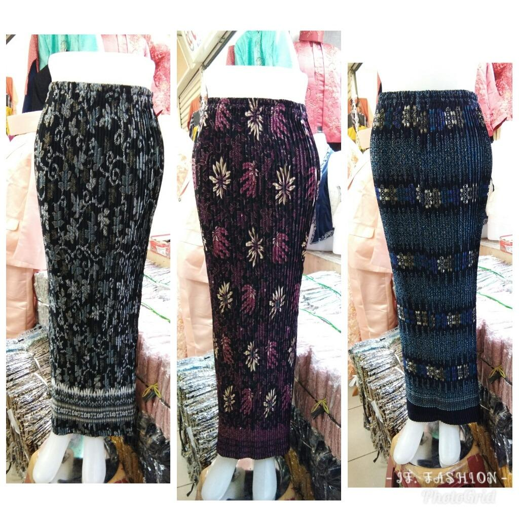Sb Collection Rok Plisket Vivi Maxi Panjang Jumbo Batik Wanita