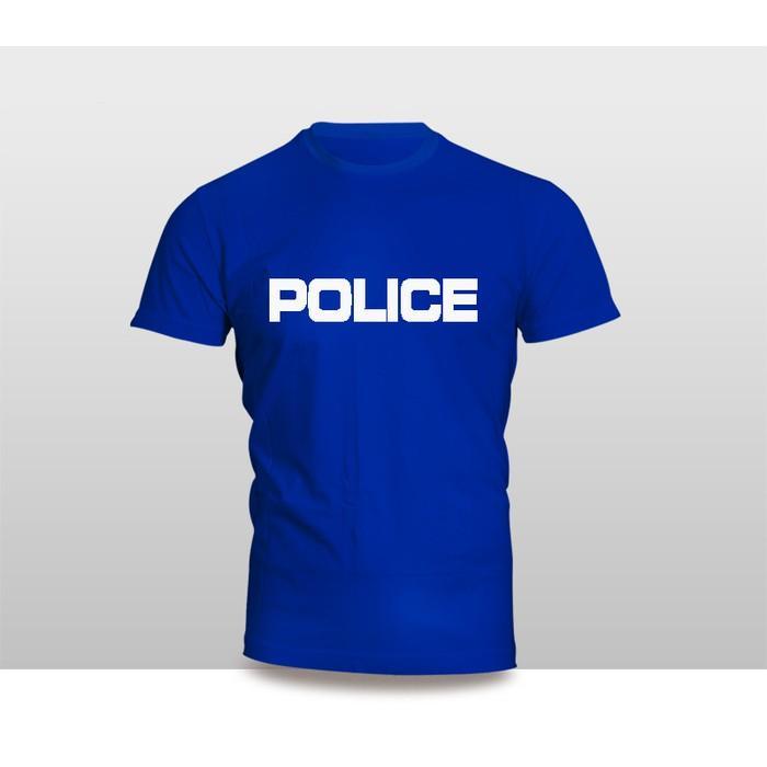 Kaos Baju Pakaian Tulisan POLICE Simple Versi 1 Murah - L8mh1w
