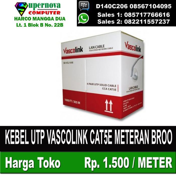 Hemat 15%!! Kebel Utp Vascolink Cat5E Meteran Broo - ready stock