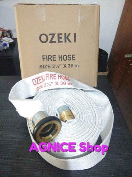 Fire Hose Kanvas - Selang Pemadam Hydrant merk OZEKI 2.5 inch x 30 mtr Coup Machino. Original Warra