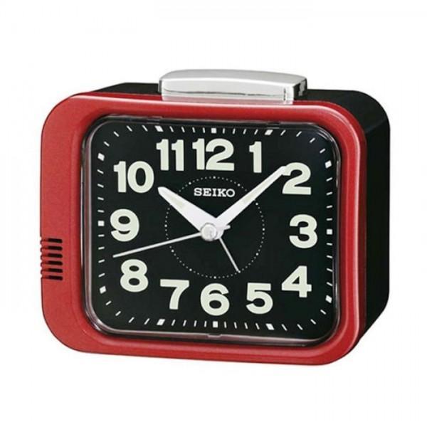 Seiko - Jam Meja Beker - Merah - QHK028R Beker Alarm Original Cantik Unik  Modern 12ea996be2