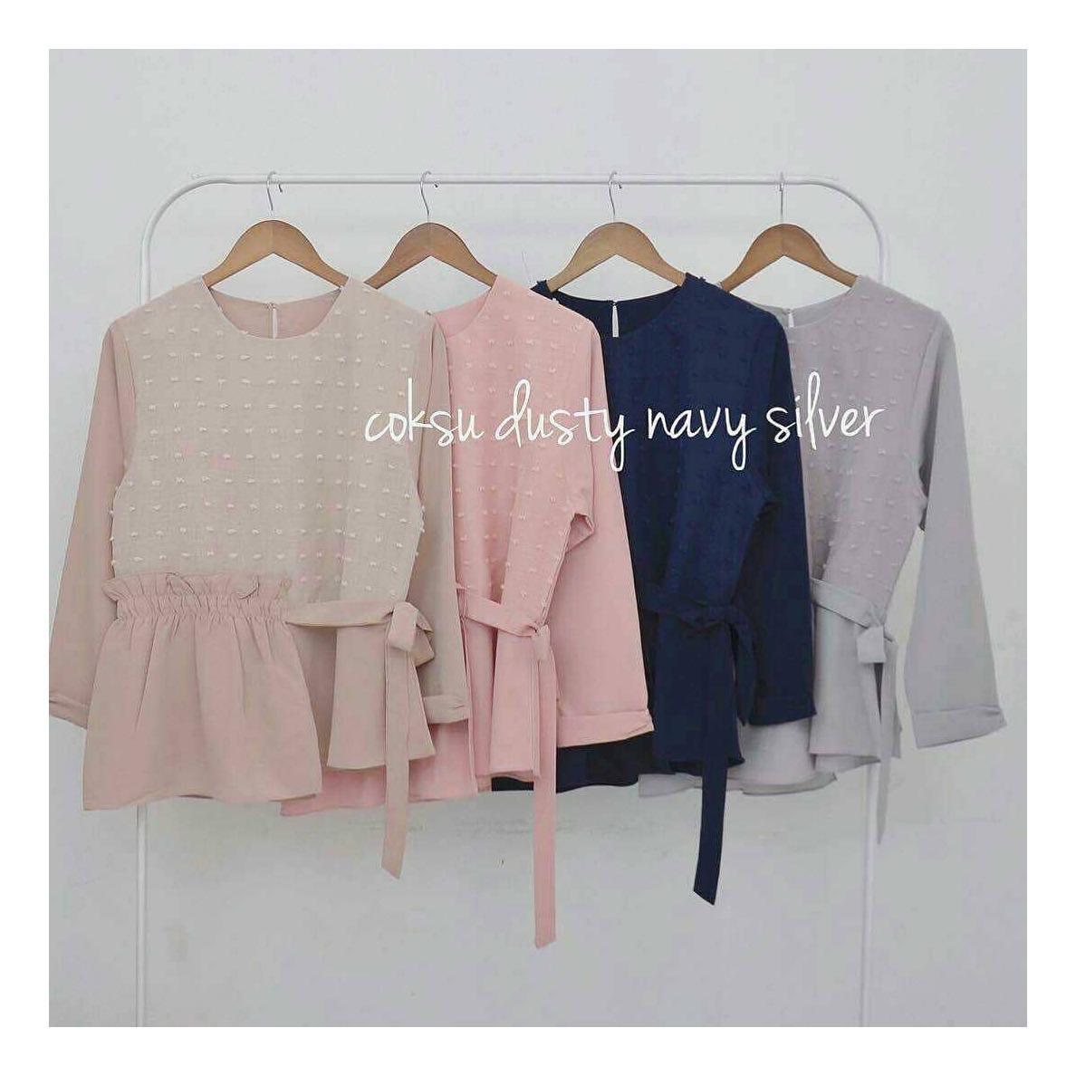 Baju Original Alina Blouse Linen Rubiah Pakaian Wanita Muslim Modern Atasan Cewek Muslimah Top Shirt Simple Trend 2018