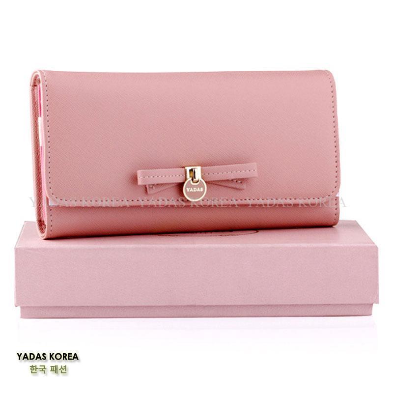 Yadas Cute Ribbon Dompet Wanita Lipat 3 - Pink