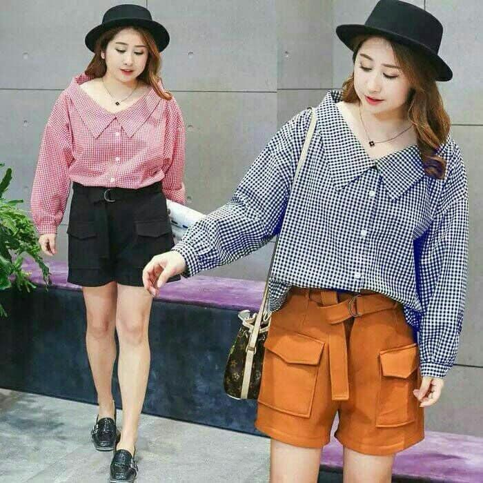 blouse atasan wanita/ baju gaul wanita/ baju kece wanita terbaru/ baju wanita, atasan wanita gefashion