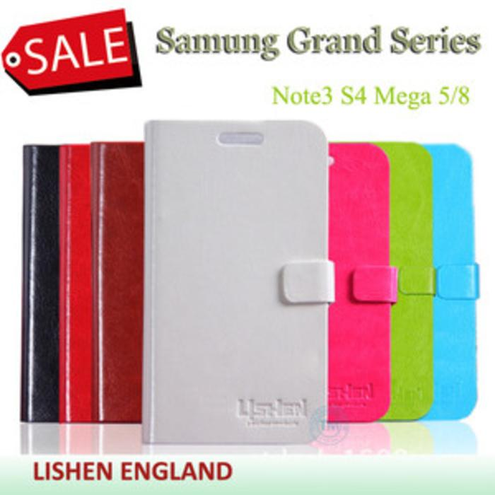 Samsung Note3 N9000 [LISHEN ENGLAND] Series Ultra Slim Hard Leather Case Dompet Notebook Lipetan