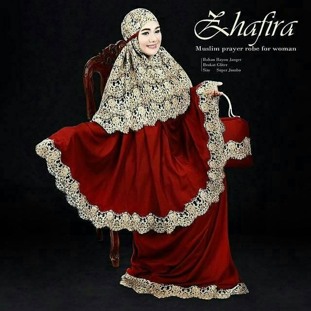 MUKENA BALI BROKAT ZHAFIRA EXCLUSIVE (white gold)