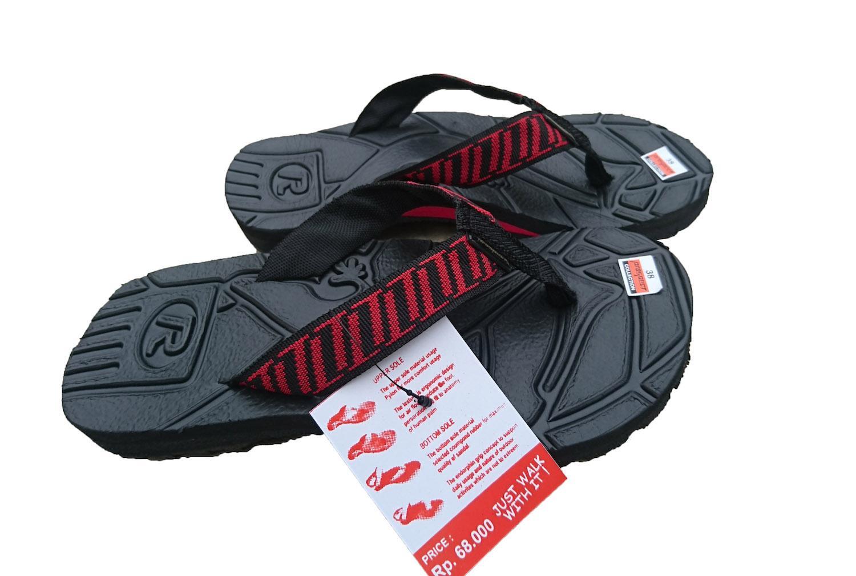 Sandal gunung jepit pria batik merah 38-42