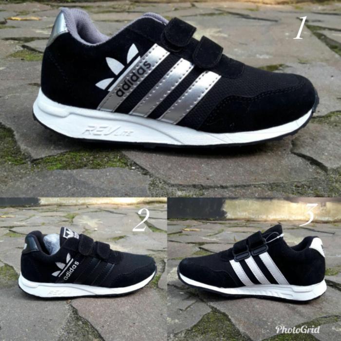 CITIPARK - sepatu sekolah anak adidas hitam  sepatu anak murah laki dan  perempuan 46749d9d06