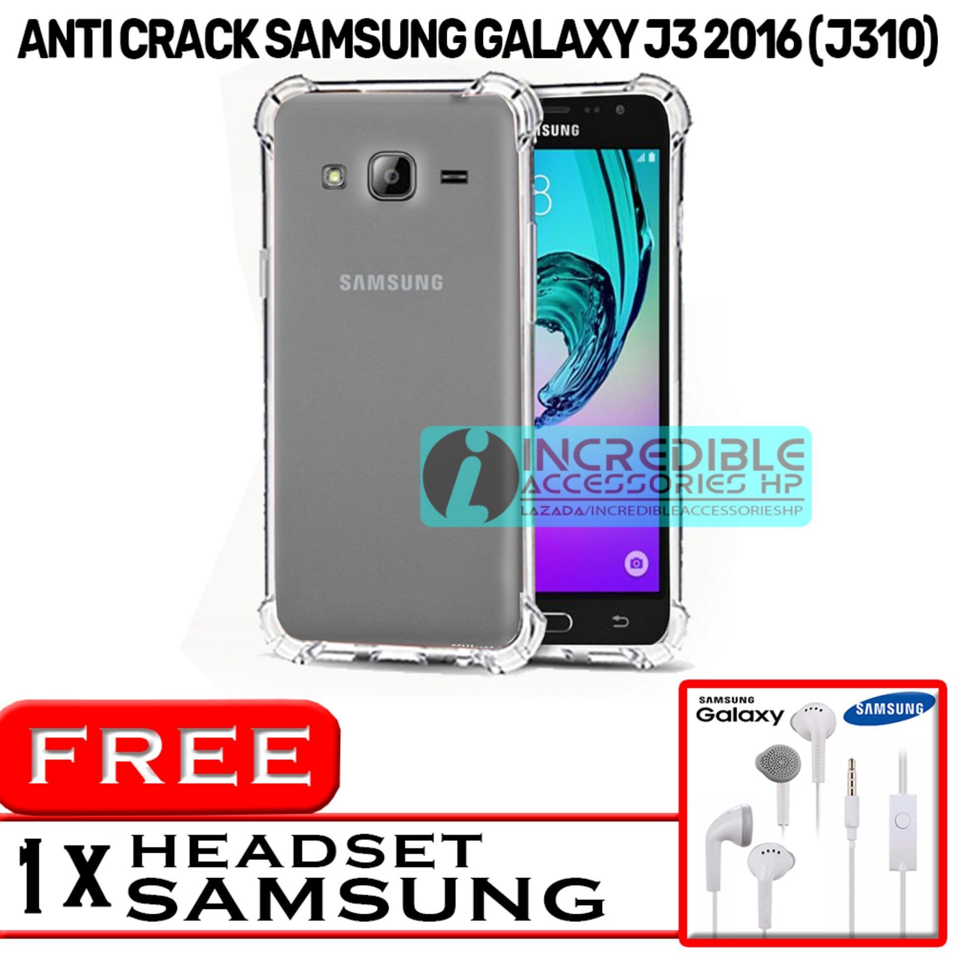 PROMO  Case Anti Shock / Anti Crack Elegant Softcase  for Samsung Galaxy J3 2016 (J310) - White Cle