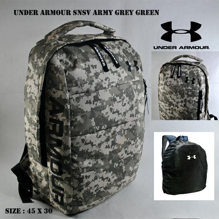 tas pria ransel backpack laptop traveling futsal basket bukan jansport - ARMY