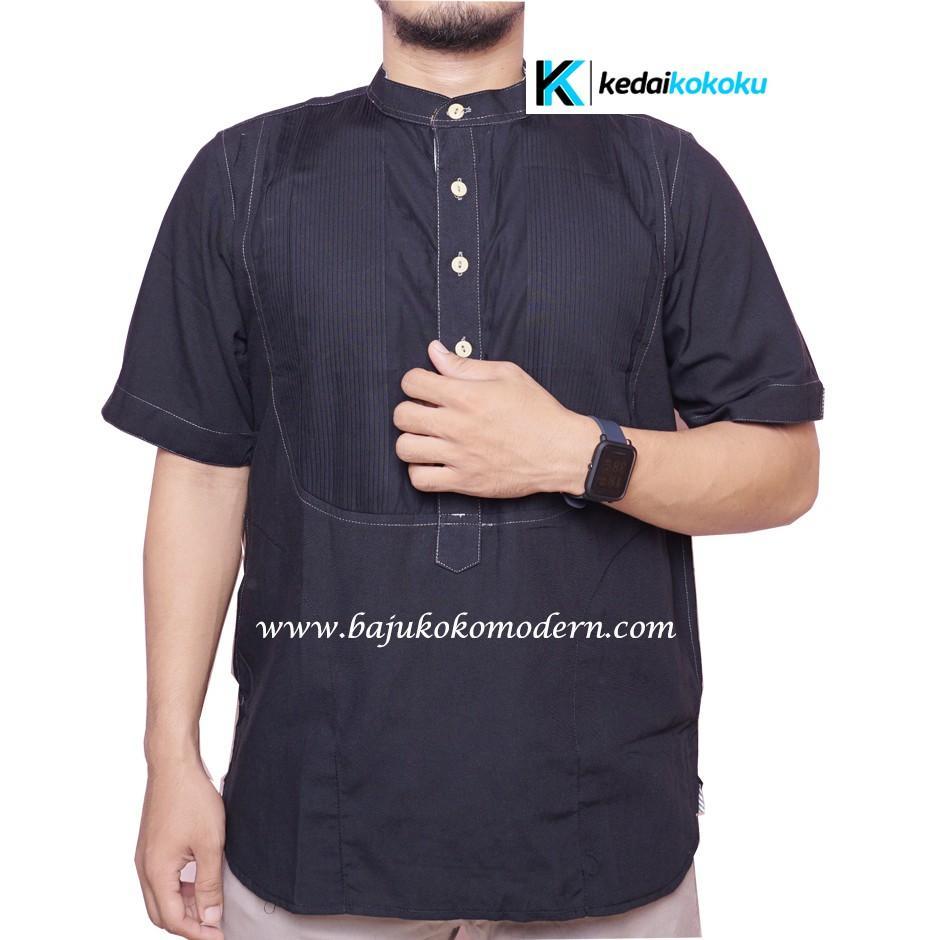 Buy Sell Cheapest Baju Koko Grosir Best Quality Product Deals Pria Lengan Panjang Katun Biru Dongker Kkl 04 Jual Premium Harga