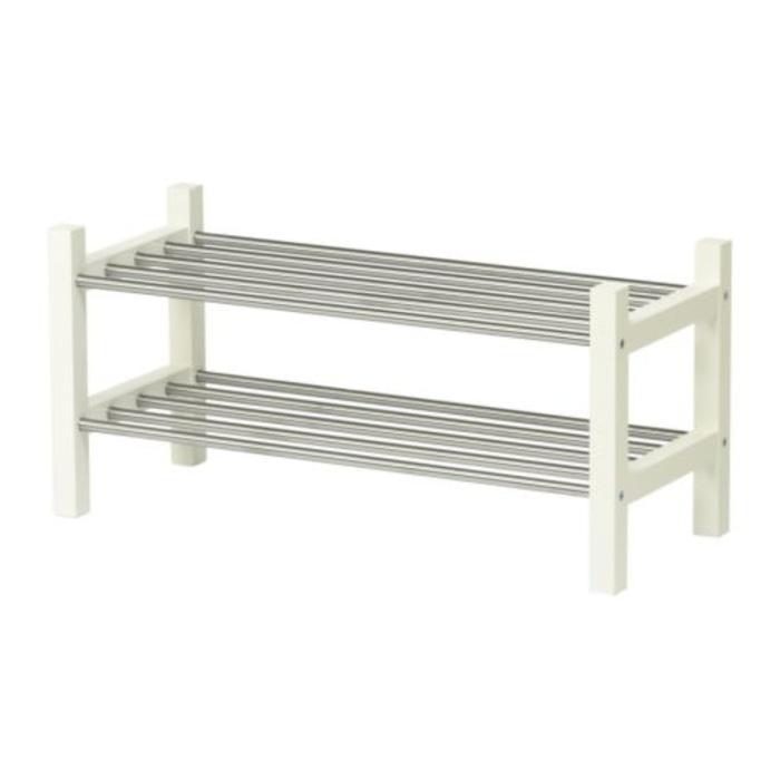 IKEA TJUSIG Rak sepatu kokoh dan elegan, putih