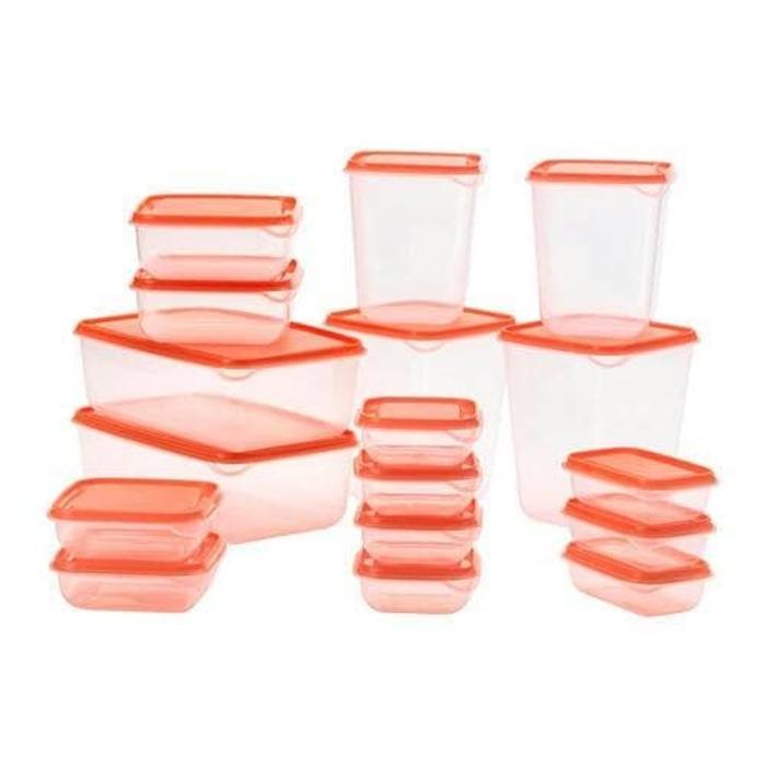 IKEA Toples Set Pruta 17pcs Premium Wadah Penyimpanan Makanan BPA Free