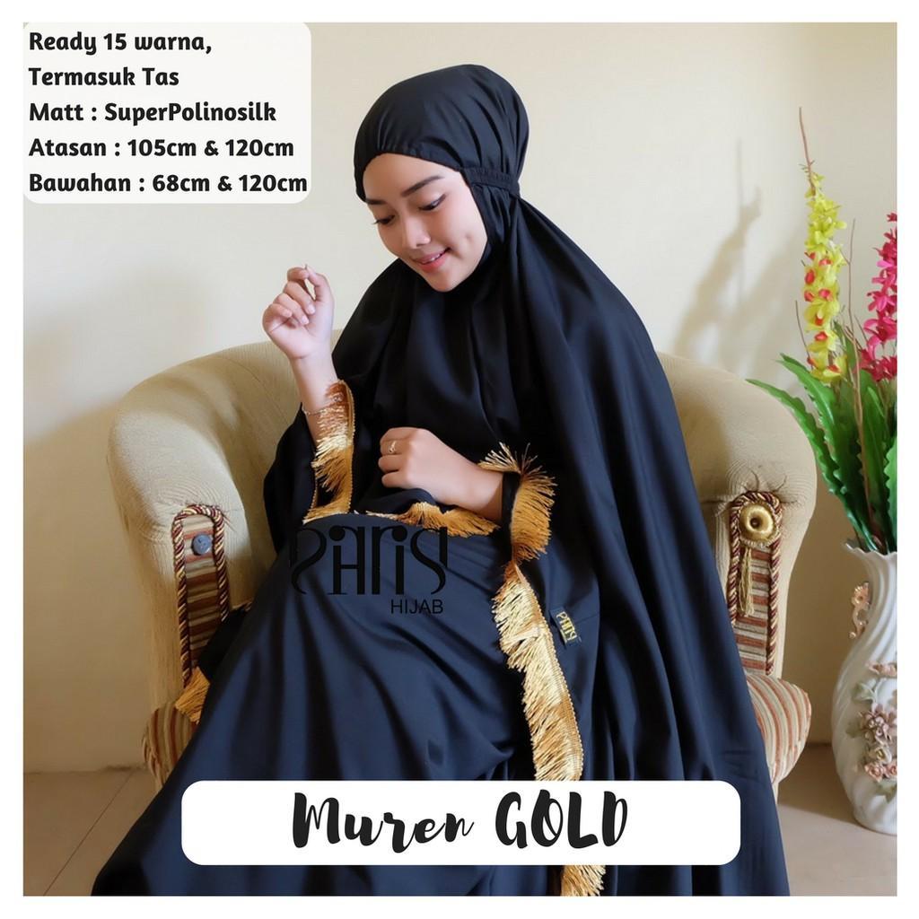 MUKENA GOLD - jilbab hijab katun premium by parisku (babypurple)