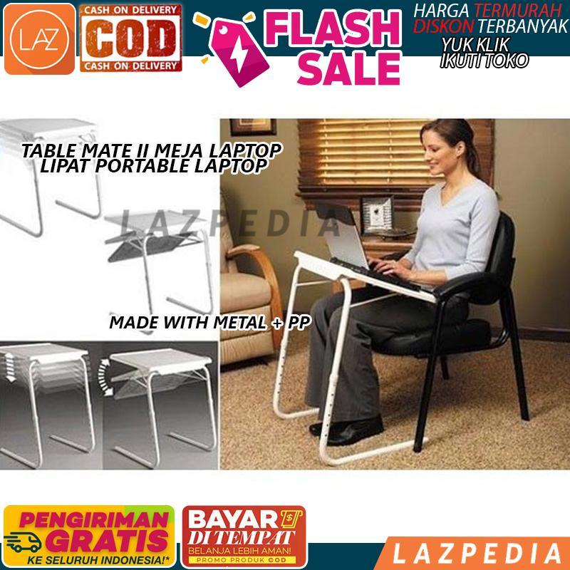 Laz COD - [PUTIH] Table Mate II / Meja Laptop Lipat Portable Laptop / Meja Lipat Serbaguna / Meja Makan - Lazpedia A398