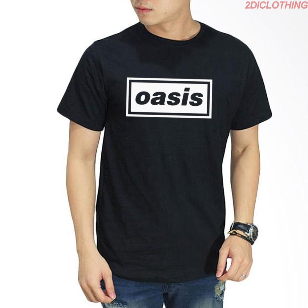 Kaos Distro Band Oasis / Tshirt Black aosis premium