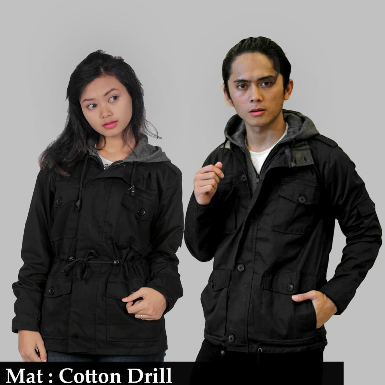 GA JAKET PARKA COUPLE ORIGINAL KODZO-PARKA HOODIE FLEECE COUPLE TERBARU SSP010333