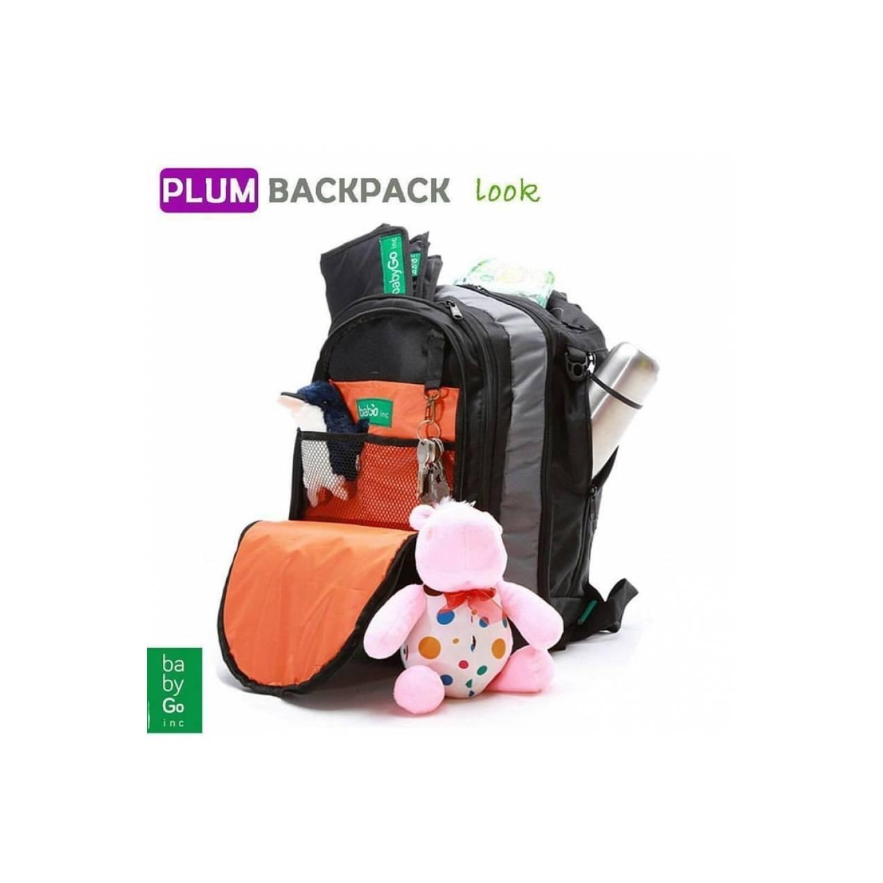 List Harga Baby Go Inc Urban 3 In 1 Diaper Backpack Babygo Metro Blue Plum Limited