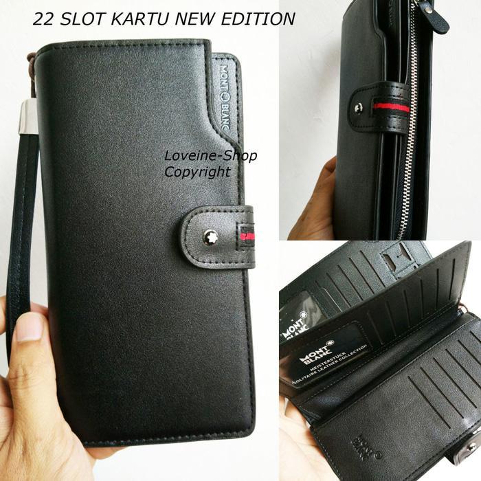 Dompet handbag kulit pria kartu banyak bisa hP 5 inc Terkini