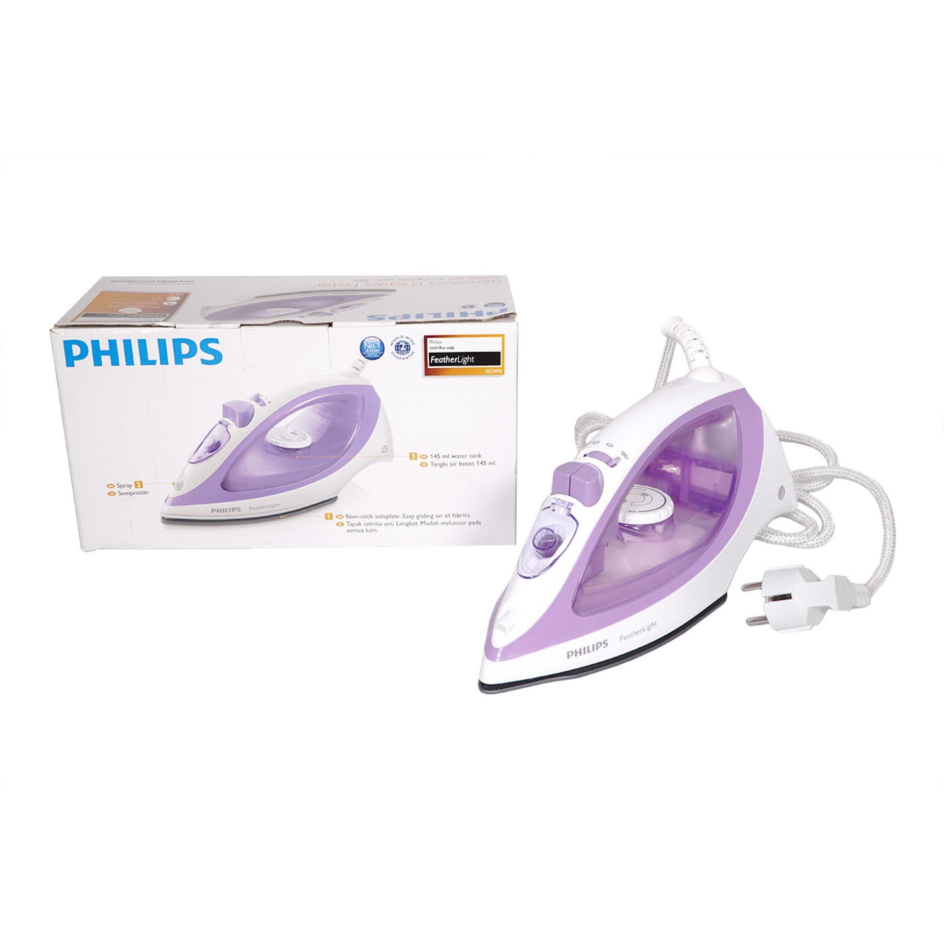 Philips Setrika Uap Gc1418 Ungu Original Daftar Harga Terkini dan Source · Philips Setrika Uap FeatherLIght