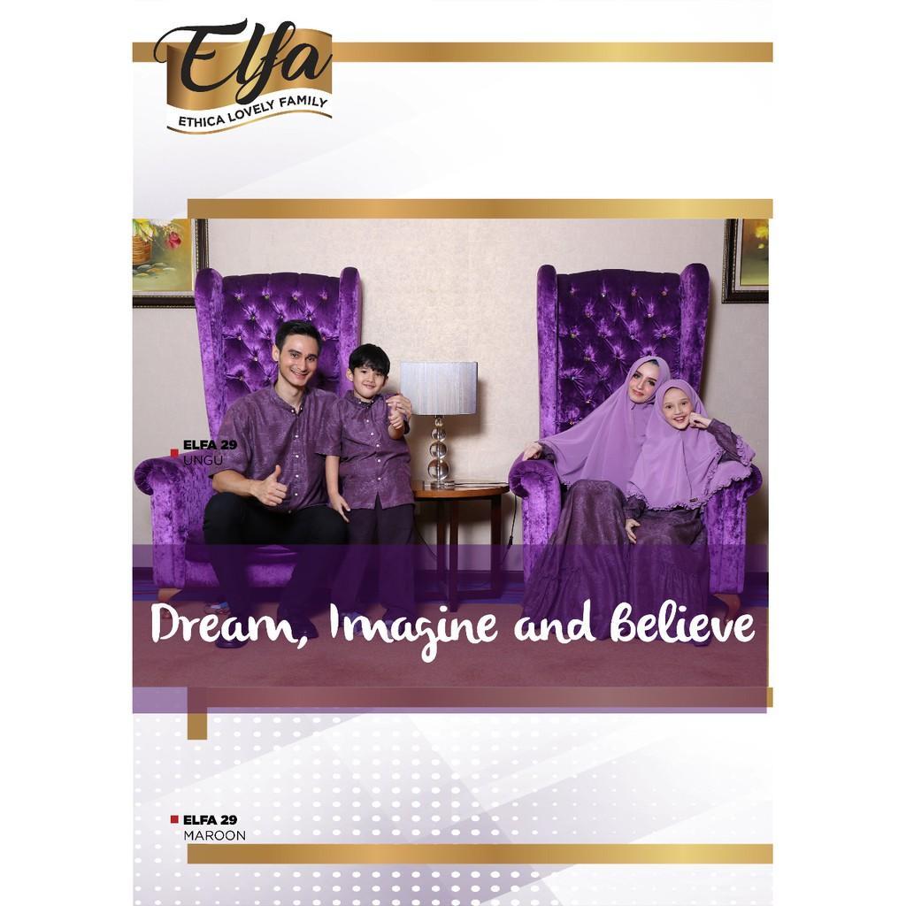 Busana Muslim Sarimbit Ethica Warna Ungu Model Elfa 29 (Gamis Dewasa S-L)