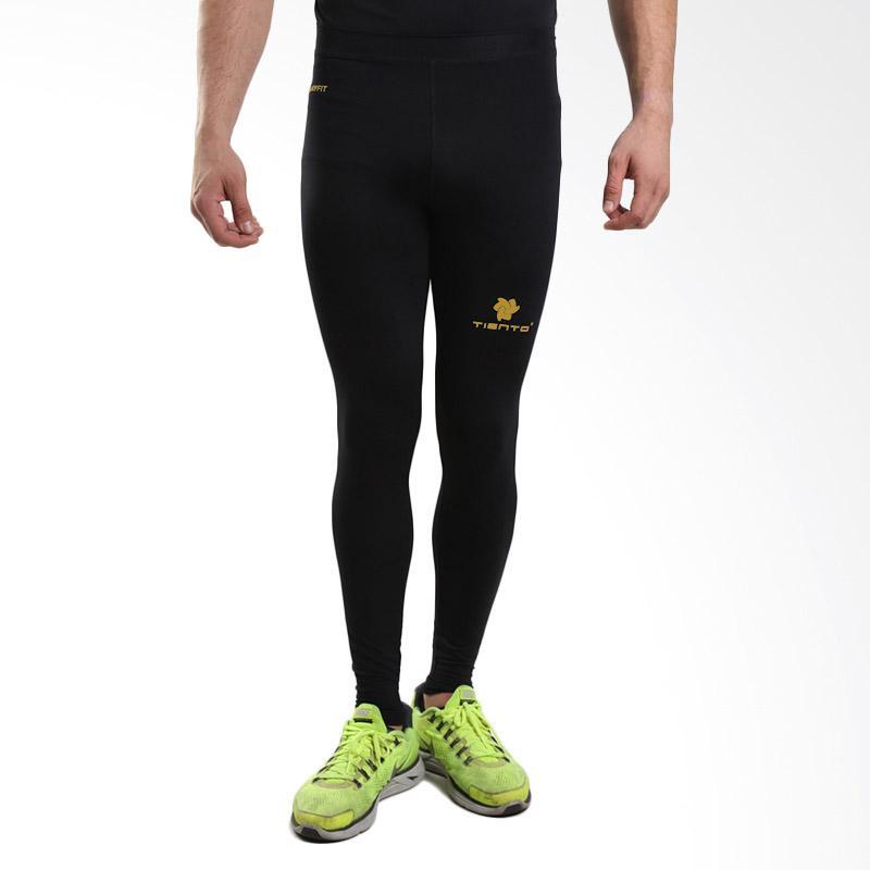 Tiento Baselayer Long Pants Black Celana Ketat Leging Legging PanjangCompression Olahraga Sport Lari Senam Zumba Yoga Running Futsal Sepakbola Renang Diving Voli Sepeda Original
