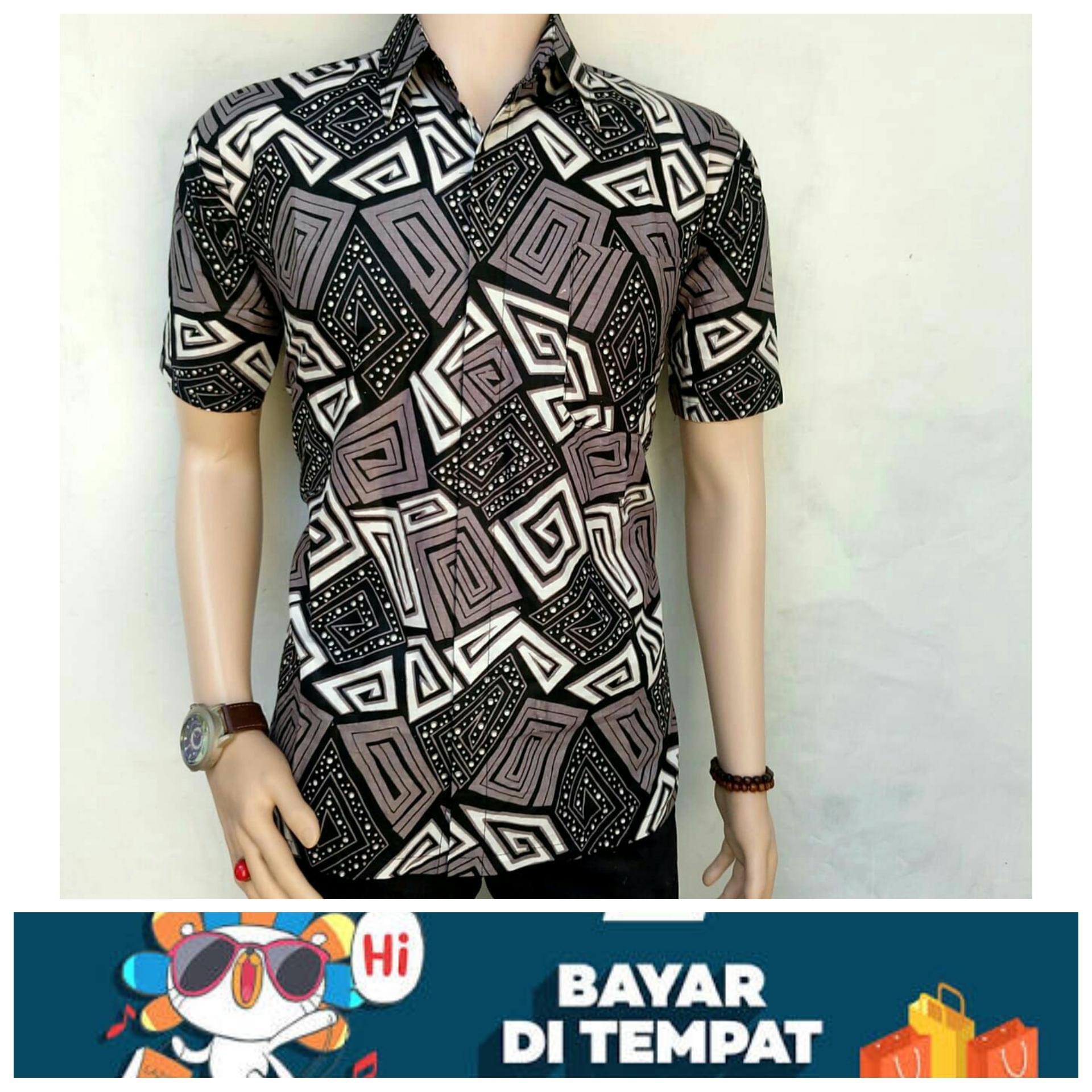 Batik Pria-Batik Pekalongan- Kemeja Batik Eksklusif Baju Batik Modern Casual By Resinda Fashion Store