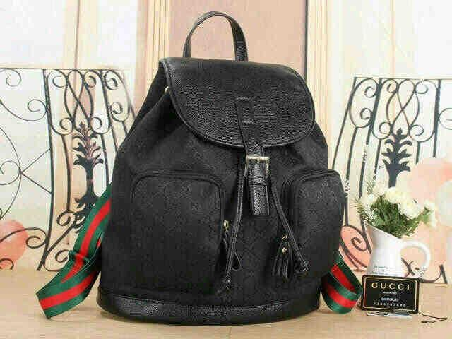 HOT SPESIAL!!! TAS NEW GUCCI RANSEL KANVAS & TOGO LEATHER - mFxy1t