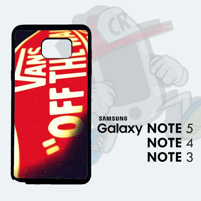 Casing Custom  Case Cover Hard Case Samsung Galaxy Note 5 Vans Original Case