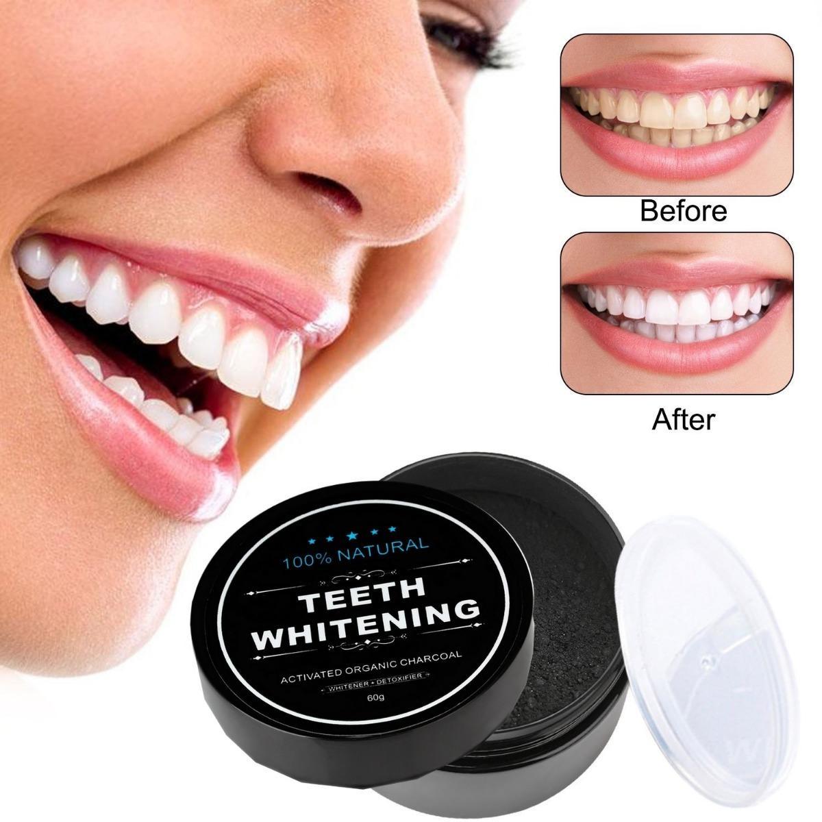 Charcoal Powder Activated Teeth Whitening Pot Pemutih Gigi Paling
