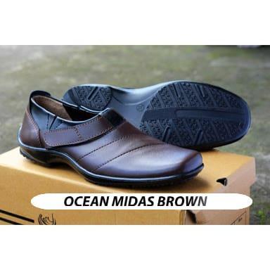 Sepatu casual pria guci kulit Jok semi formal kantor kerja pantofel slop  slip on 25a815882e