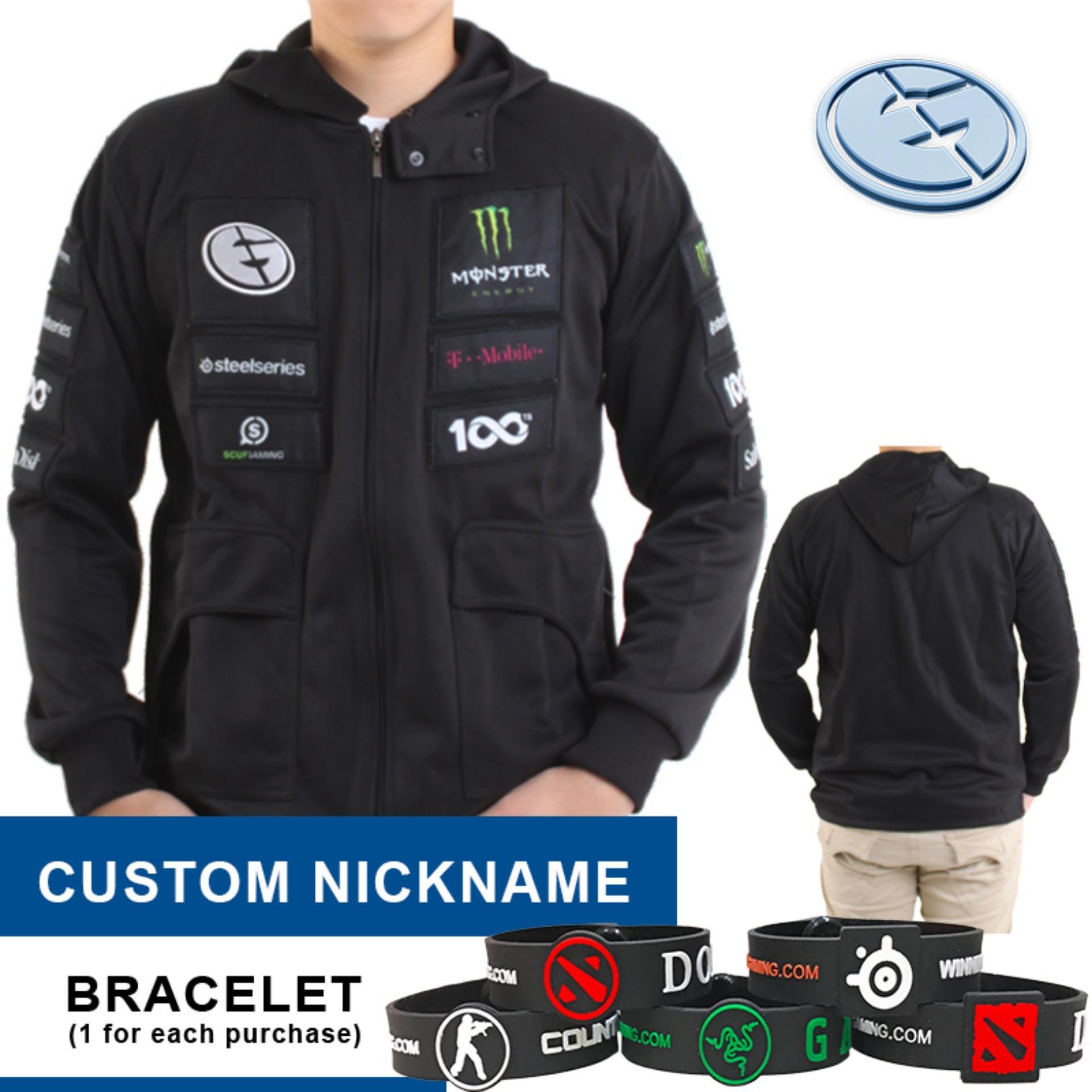 Apparel Gaming Store Brand Jaket Redbull Evil Geniuses Costum Nickname