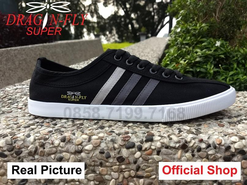 Sepatu Dragonfly Capung Legendaris Vintage White Canvas Sneakers Sport Import Original Not Kodachi Neo Dragonfly Super Black Edition