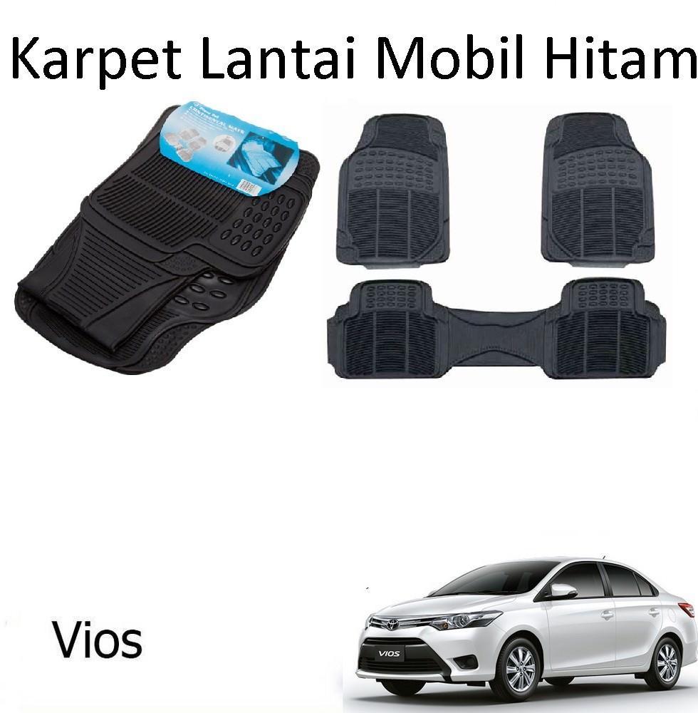 Karpet Mobil Vios / Car Carpet / Floor Mats Universal Warna Hitam