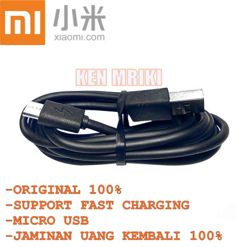 Kabel Data Xiaomi For Redmi Note 4 / Note 4x Micro USB 2 Ampere Original Fast Charge Fast Charging