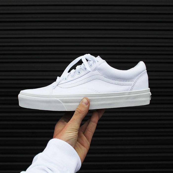 Vans Old Skool White Premium Original / Sepatu Sneakers Putih - kA3Tyw