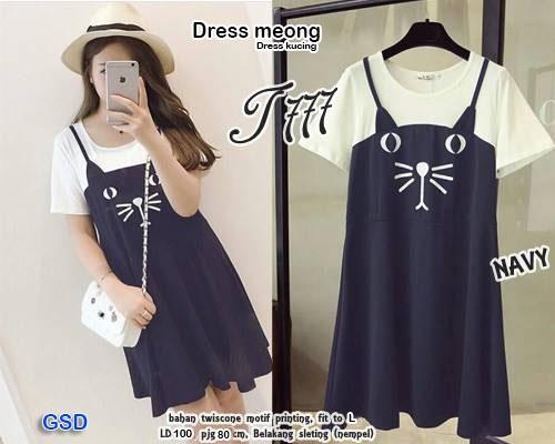 dress meong / dress wanita / dress lokal / dress murah / dress tanah abang / baju murah