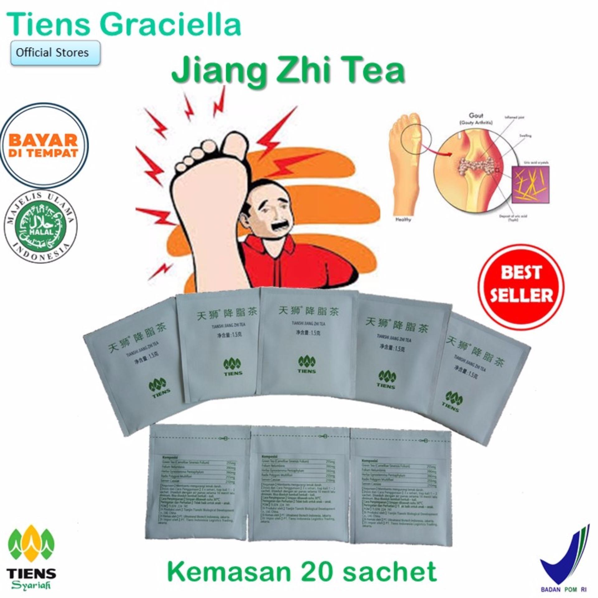 Tiens Promo Super Spesial Teh Penurun Asam Urat Jiang Zhi Tea [20 Sachet] + GRATIS Kartu Diskon Tiens Graciella