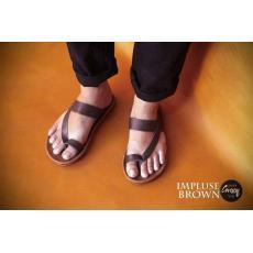 Sandal Kulit Pria - CVNY NOIR sendal jepit casual sendal tali formal santai original Pria wanita