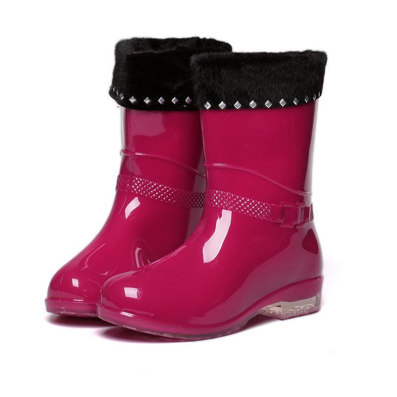 Musim gugur musim dingin sepatu boots hujan wanita Korea Selatan sepatu  Penghangat Martin sepatu bot hujan 5ea9ed119c