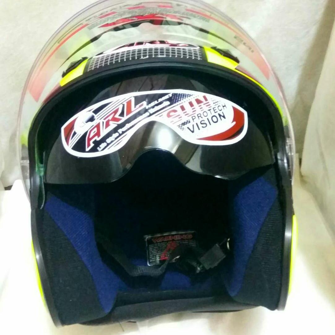 Helm ARL Centro Double Visor SNI ada slot anti maling dan busa bongkar pasang