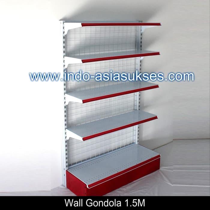 Rak Gondola / Rak Minimarket / Rak Supermarket 5 Level - Merah