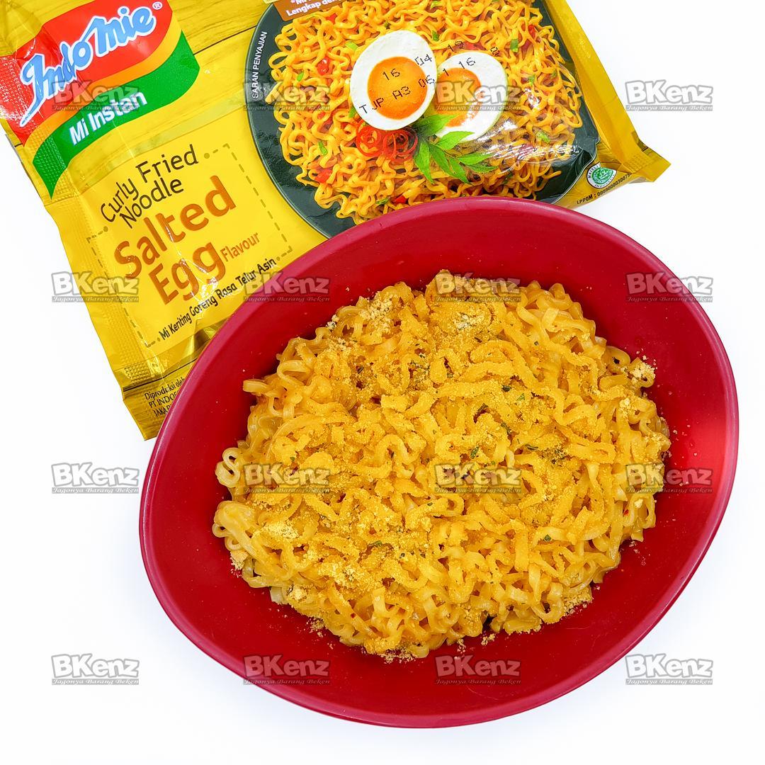 Indomie Curly Fried Noodle Salted Egg / Indomie Telur Asin Baru Free Bubble Wrap