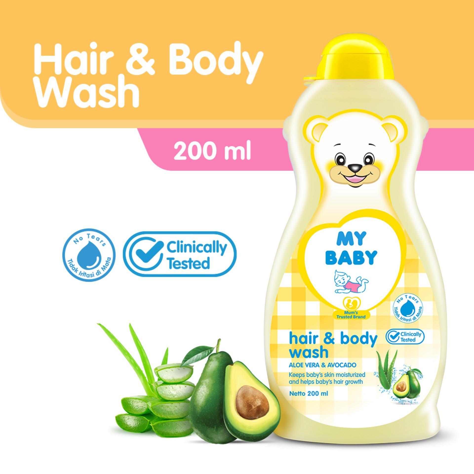 Sabun Cair Bayi Babymax Premium Natural Baby Safe Detergent Refill 600ml My Hair Body Wash 200