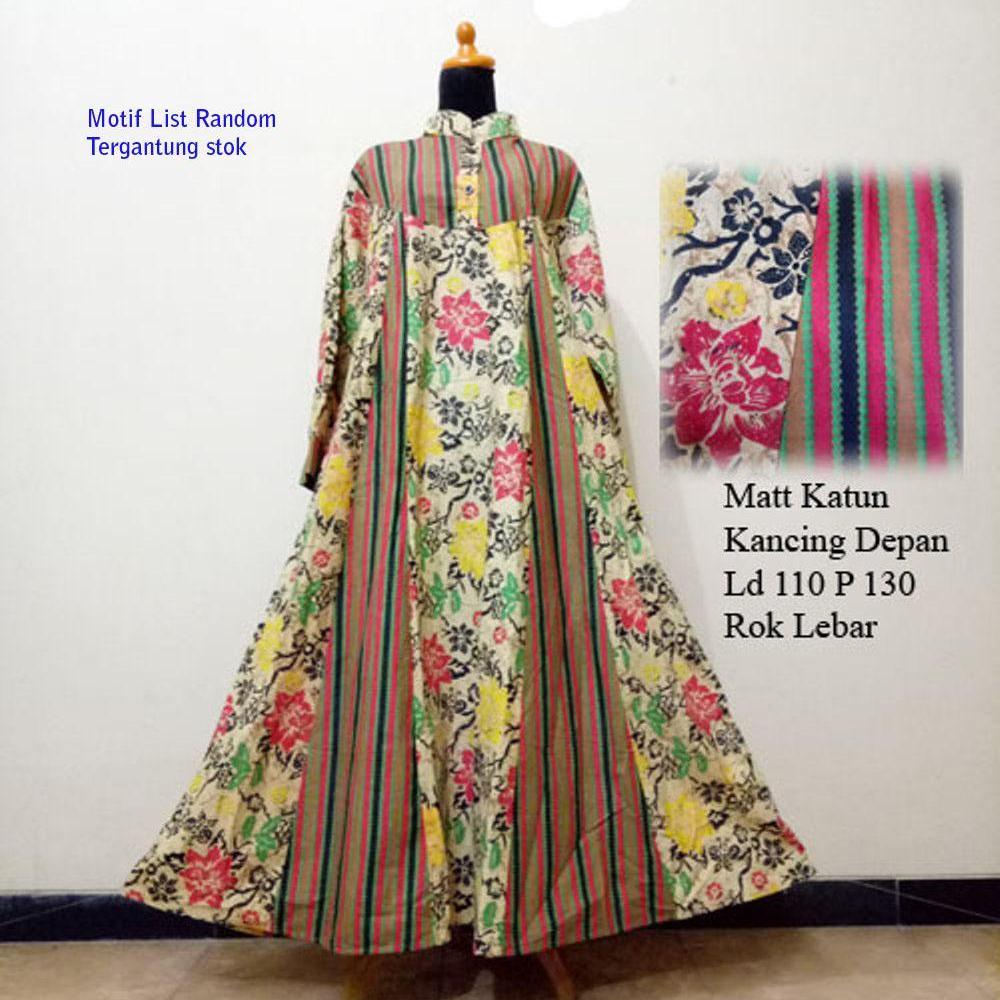 Baju Batik Wanita Gamis Katun Maxidress - Baju Hamil
