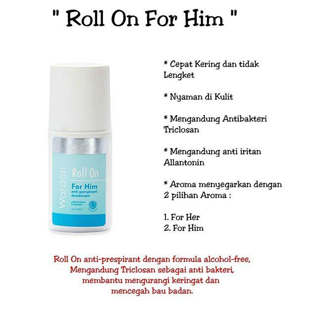 Roll On For Him Wardah Deodorant WAR-Roll-02-Him