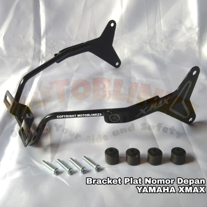 Dudukan Bracket Breket Plat Nomor Depan Aerox 155 Xmax - ready stock