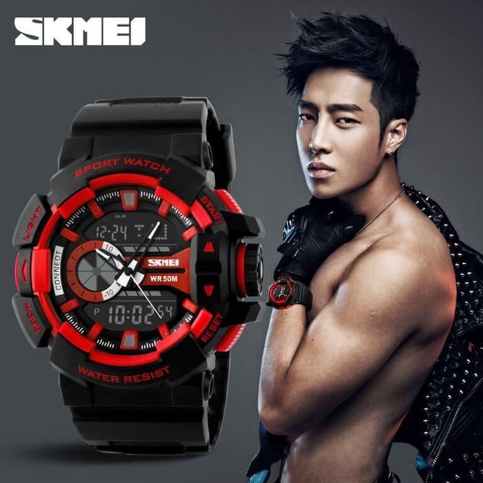 PROMO SKMEI Casio Men Sport LED Watch Water Resistant 50m - AD1117 - kEoxSAKE