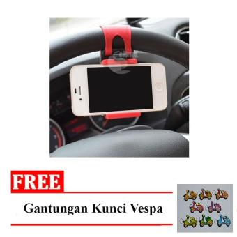 Shock Price Icantiq Car Holder Smarphone GPS / Mobile Phone Holder Car / Dudukan HP di Mobil / Holder Stir Mobil - Warna Random + Free Gantungan Kunci Motor ...